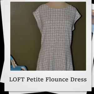 EUC | LOFT Petite Flounce Dress